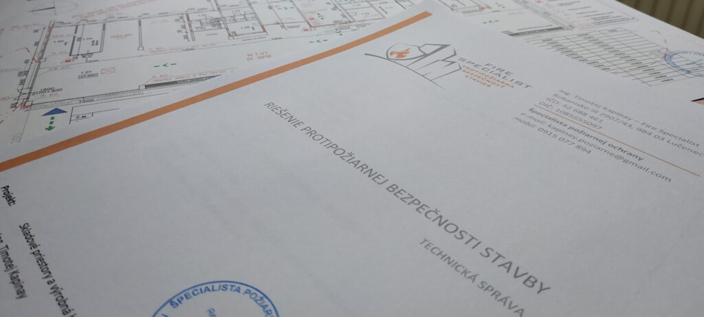 Projekt protipožiarnej bezpečnosti stavby