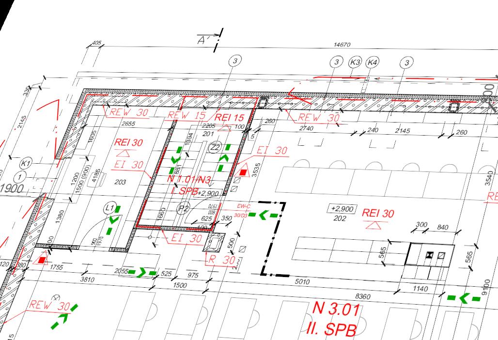 Výkresová dokumentácia projektu požiarnej ochrany