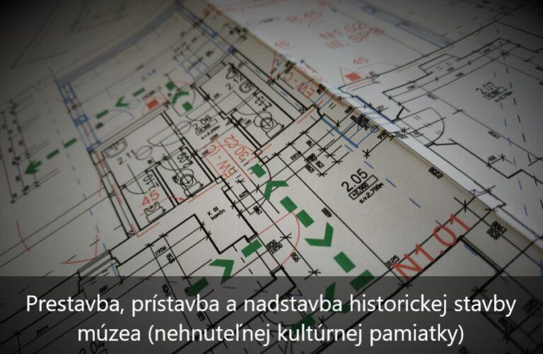 Požiarny projekt pre zmenu stavby nehnuteľnej kultúrnej pamiatky