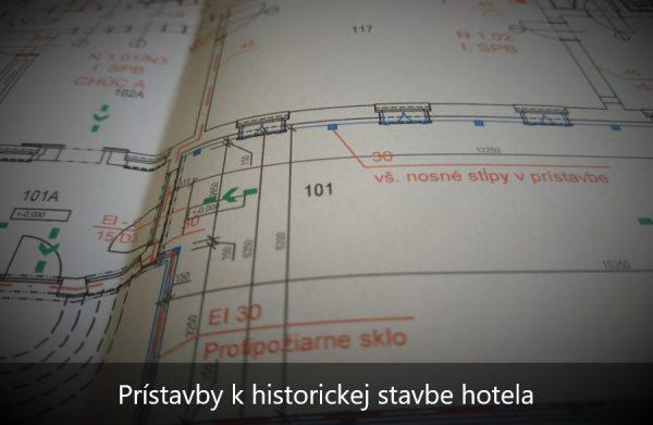 Projekt protipožiarnej bezpečnosti prístavieb hotela